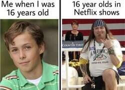 Enlace a 16 años en la vida real VS 16 años en series de Netflix