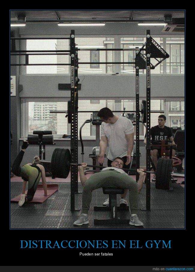 fails,gimnasio,mirando,pesas