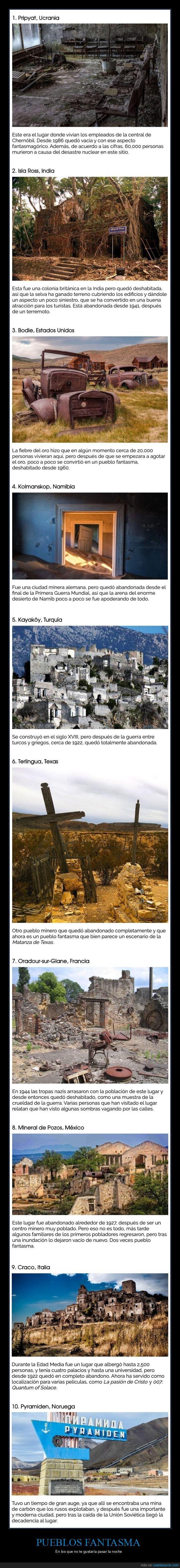 curiosidades,lugares abandonados,pueblos fantasma