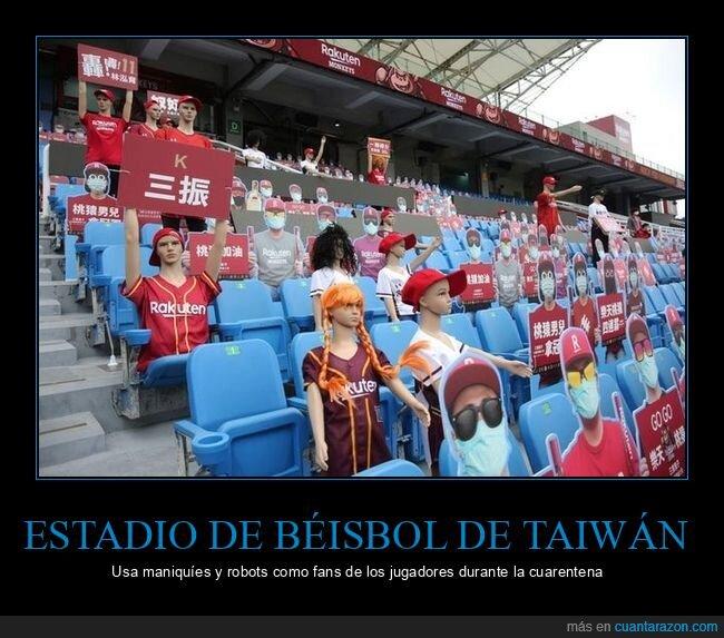 béisbol,coronavirus,cuarentena,espectadores,estadio,fans,taiwan
