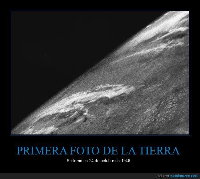 1946,fotografía,primera,tierra