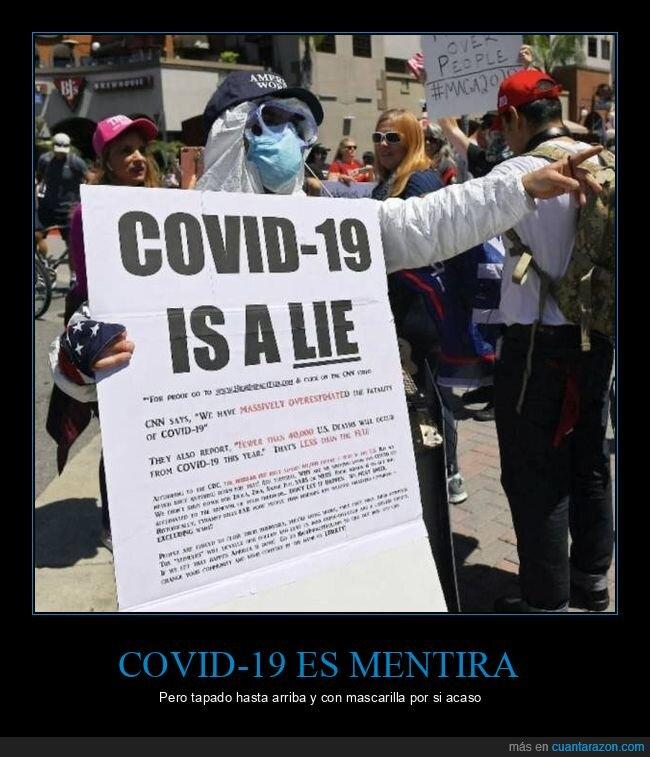 coronavirus,manifestante,mentira,wtf