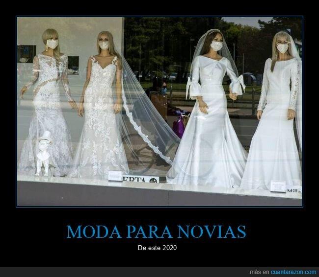 coronavirus,mascarillas,moda,novias