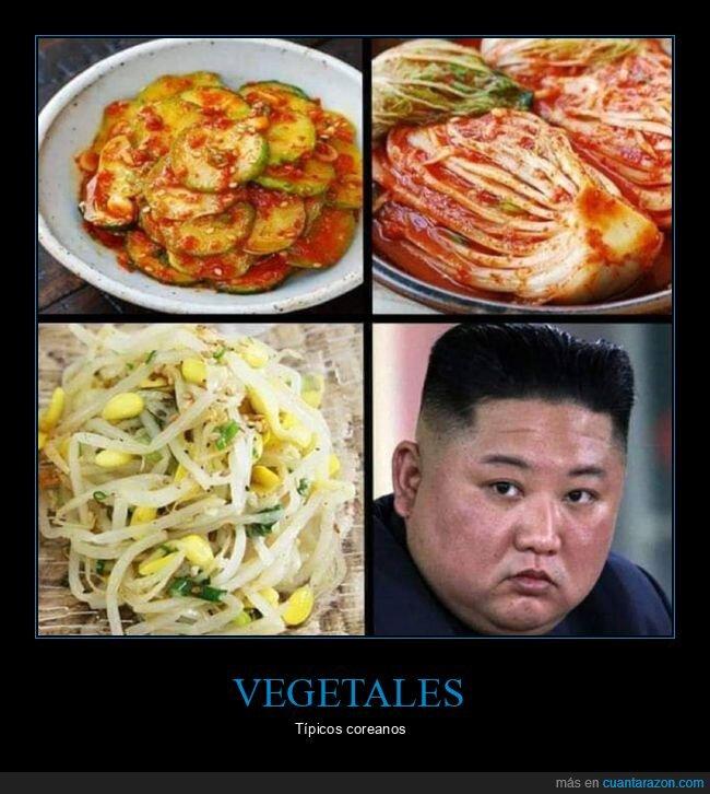 coreanos,kim jong un,vegetal,vegetales