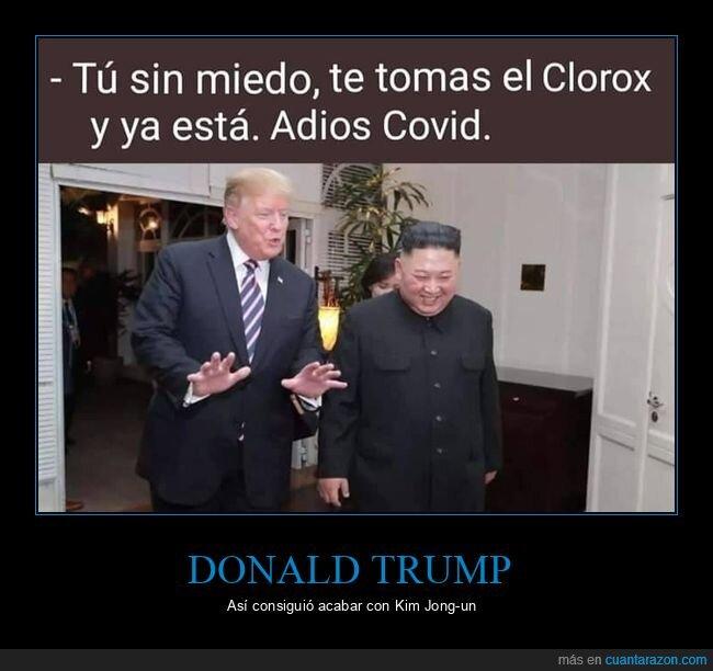 clorox,desinfectante,donald trump,kim jong un,políticos