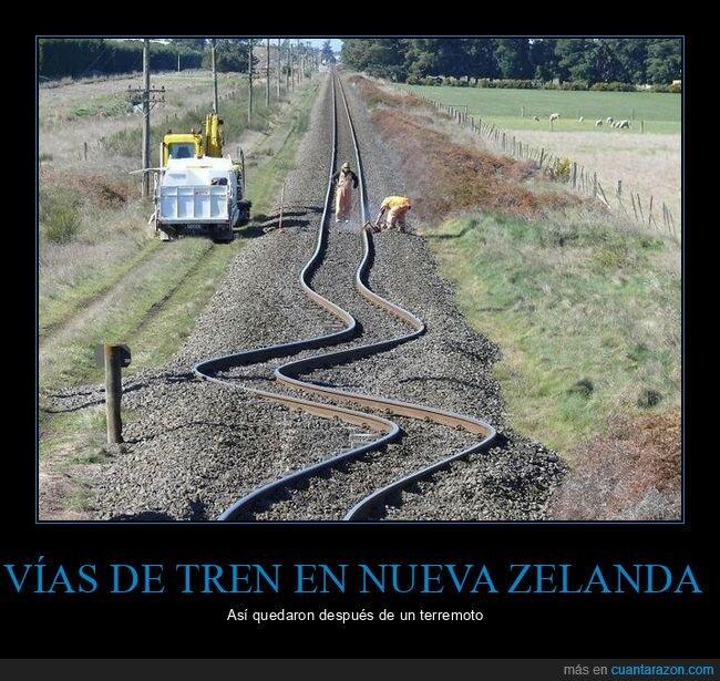 nueva zelanda,terremoto,tren,vías