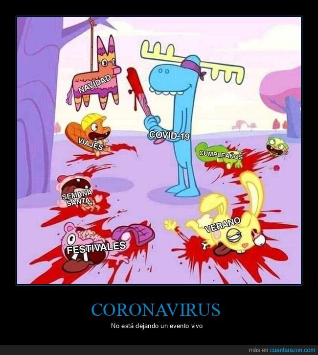 coronavirus,eventos,happy tree friends