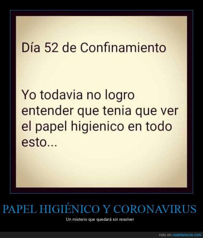 confinamiento,coronavirus,cuarentena,entender,papel higiénico