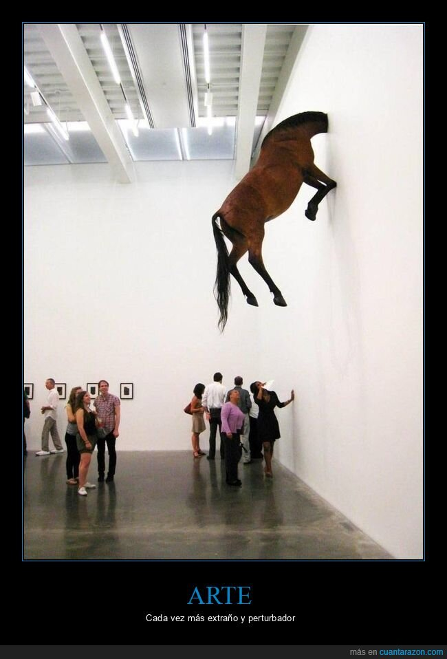 arte,caballo,pared,wtf