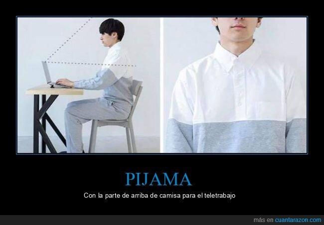 coronavirus,pijama,teletrabajo