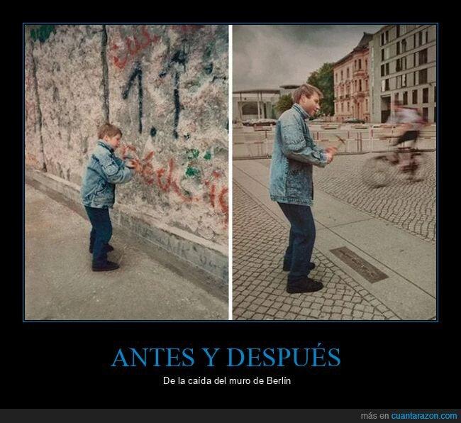 antes,caída,después,muro de berlín