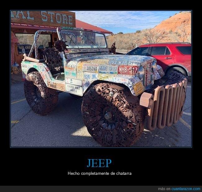 chatarra,coche,jeep