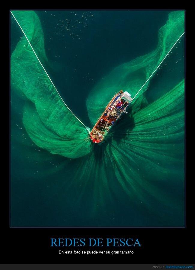 barco,redes de pesca,tamaño