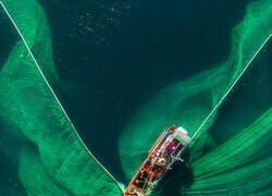 Enlace a Pescador con sus redes