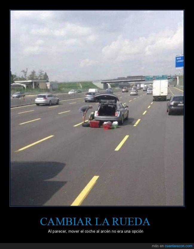 carretera,coche,fails,rueda