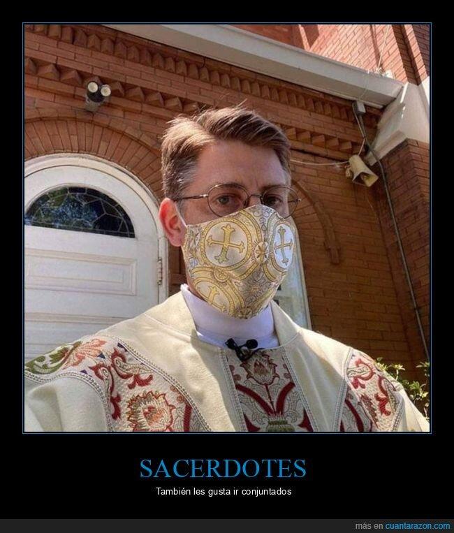 mascarilla,sacerdote
