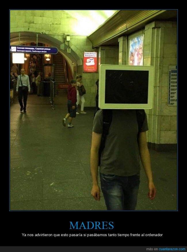 cabeza,monitor,ordeador,wtf