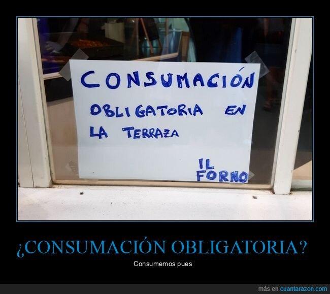 cartel,consumación,consumición,fail
