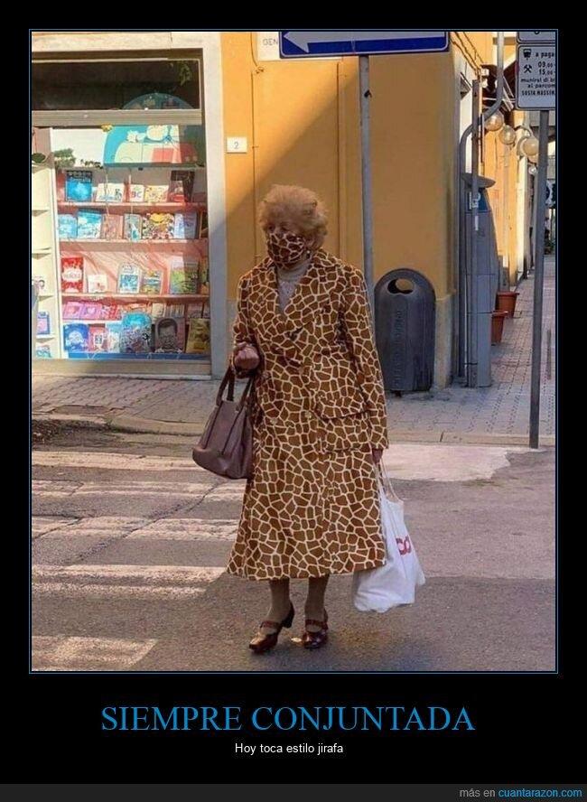 conjuntada,mascarilla,ropa,señora