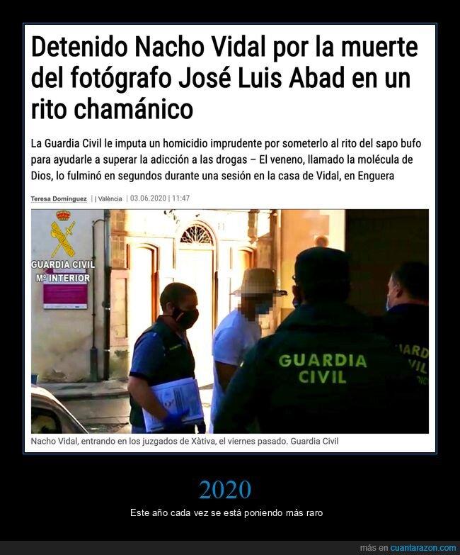 detenido,muerte,nacho vidal,rito,wtf