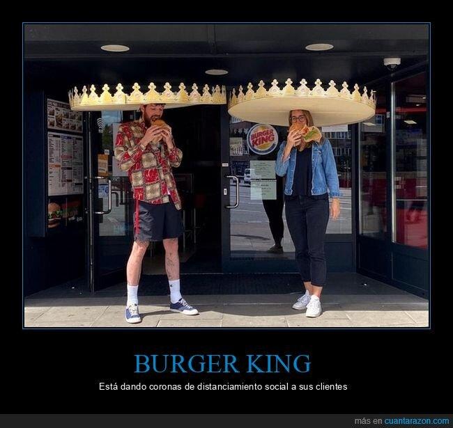 burger king,coronas,coronavirus,distanciamiento social