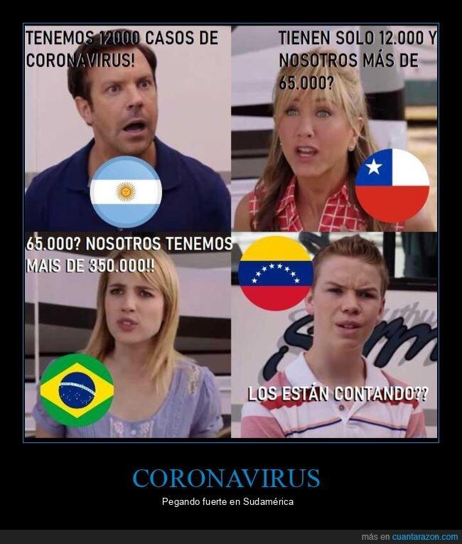 argentina,brasil,chile,coronavirus,sudamérica,venezuela