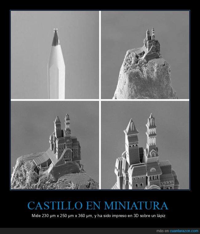 castillo,impresión 3d,miniatura