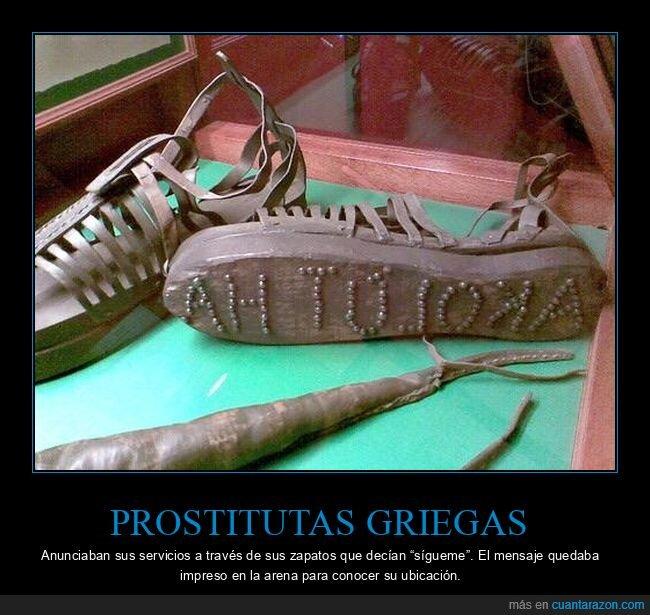 griegas,prostitutas,seguir,suela,zapatos