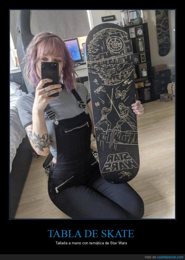 skate,star wars,tabla,tallada