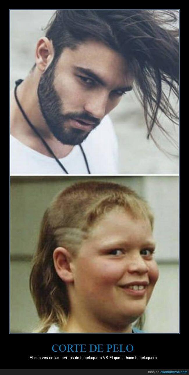 corte de pelo,expectativas,peluquero,realidad