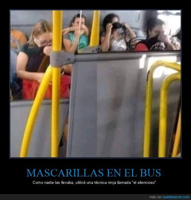 autobús,coronavirus,mascarillas,olor,pedo