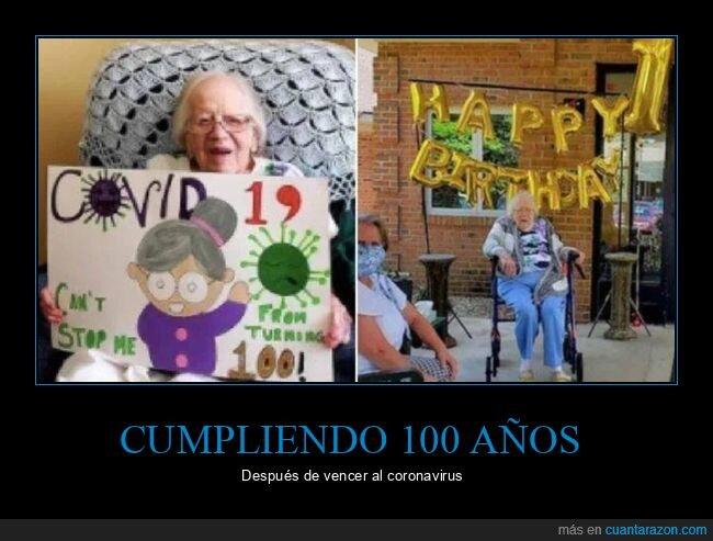 100 años,coronavirus,recuperada