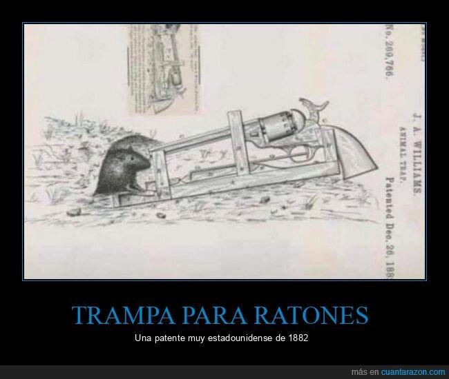 pistola,ratones,trampa,wtf
