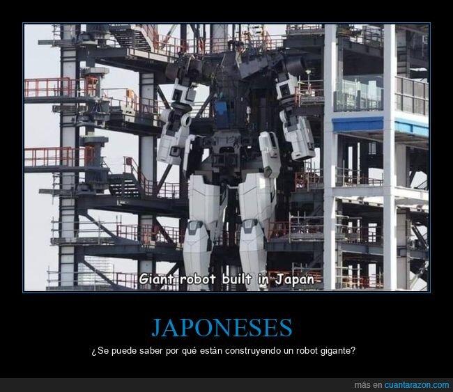 construyendo,gigante,japoneses,robot