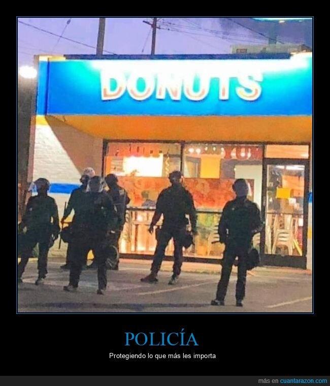donuts,policía,tienda