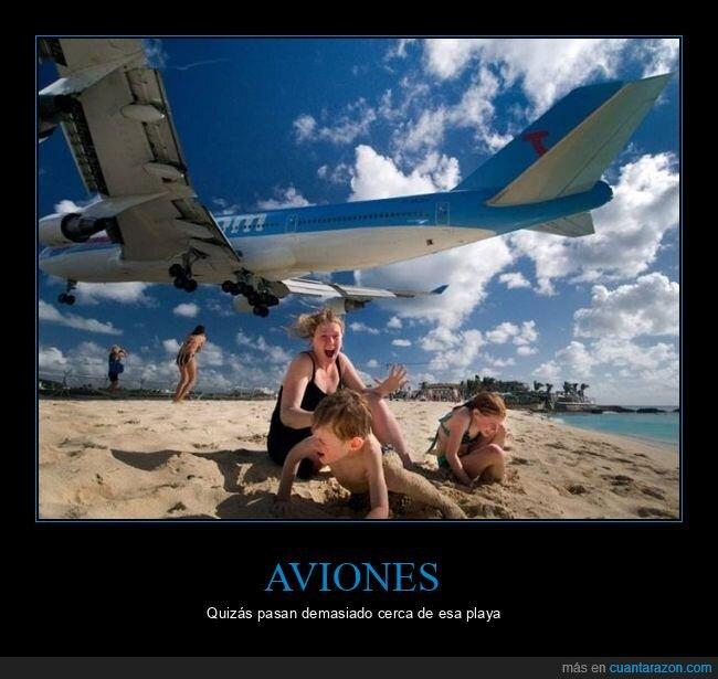 avión,miedo,playa,wtf