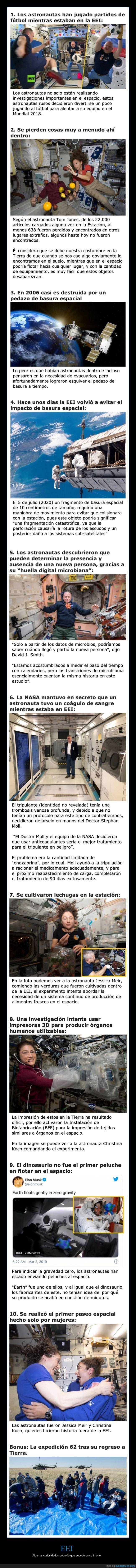 astronautas,curiosidades,espacio,estación espacial internacional