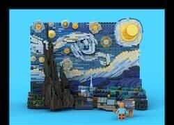 Enlace a Un Van Gogh hecho con Lego