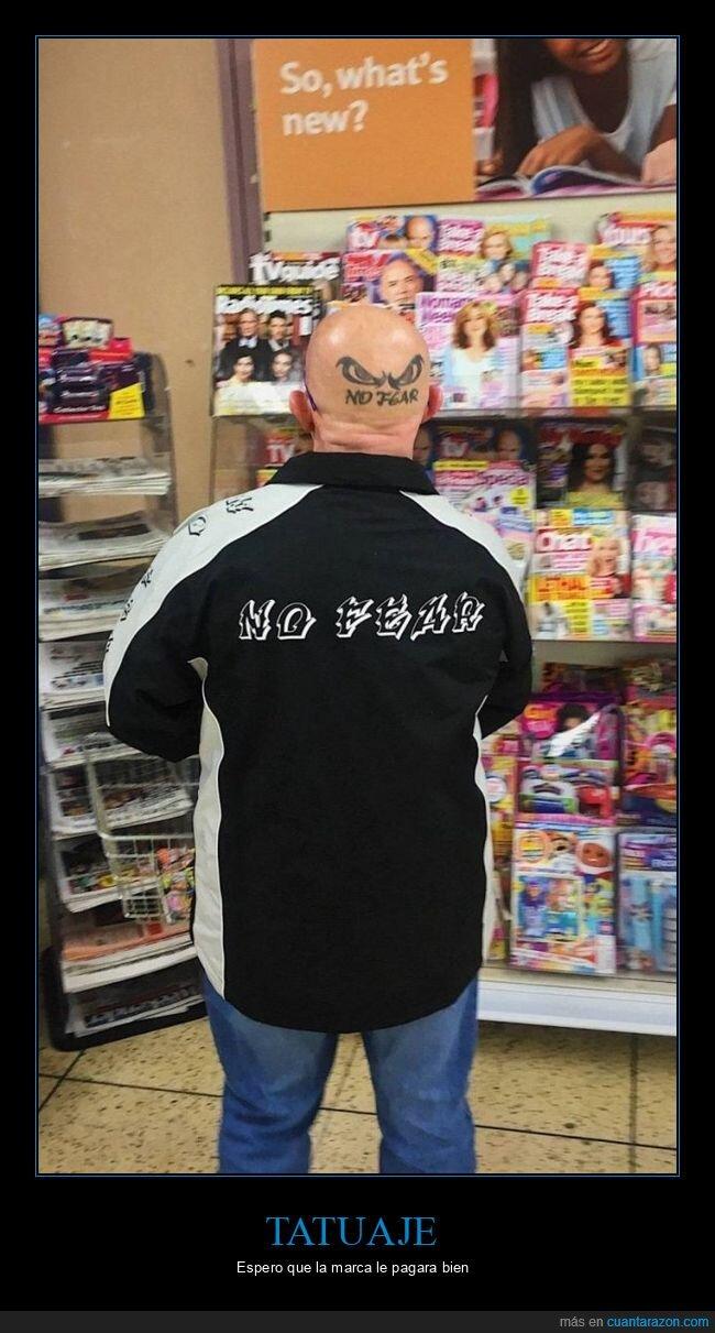 cabeza,no fear,tatuaje