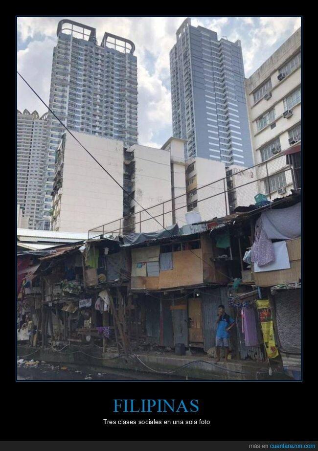 casas,clases sociales,edificios,filipines
