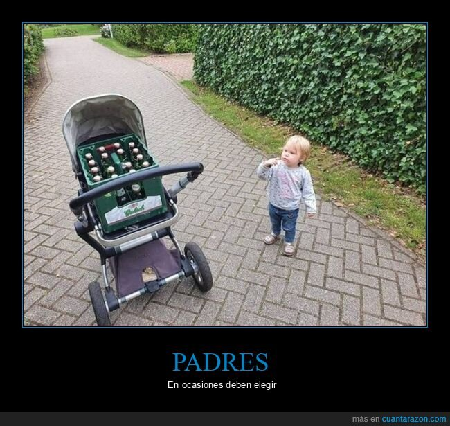 carrito,cerveza,hijo,padre