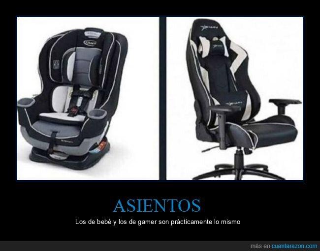 asientos,bebé,gamer,parecidos
