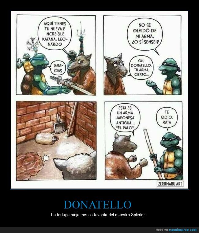 donatello,palo,splinter,tortugas ninja
