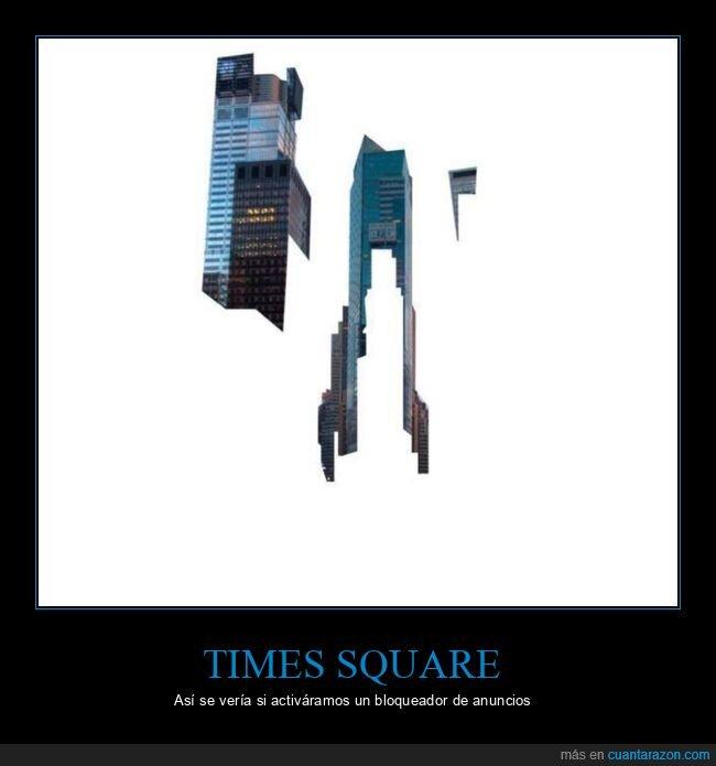 anuncios,bloqueador de anuncios,times square