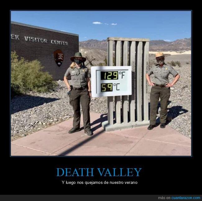calor,death valley,grados