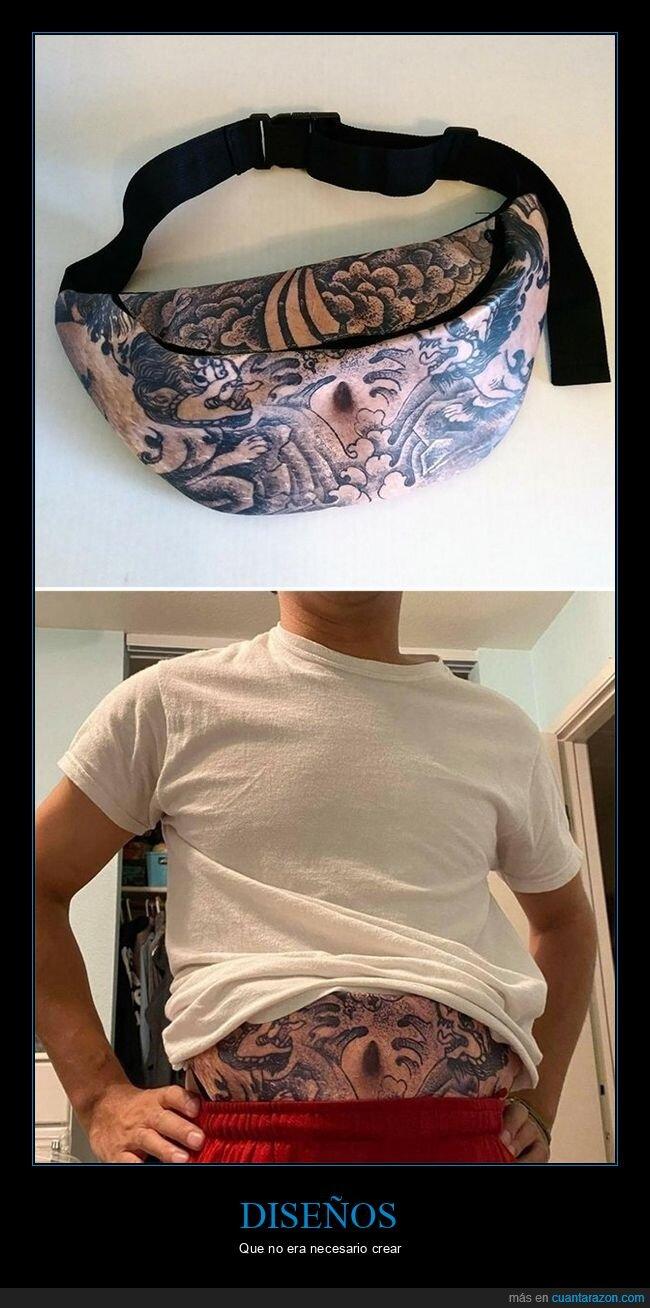 barriga,riñonera,tatuaje