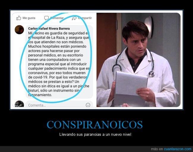 conspiranoicos,coronavirus,hospitales,médicos