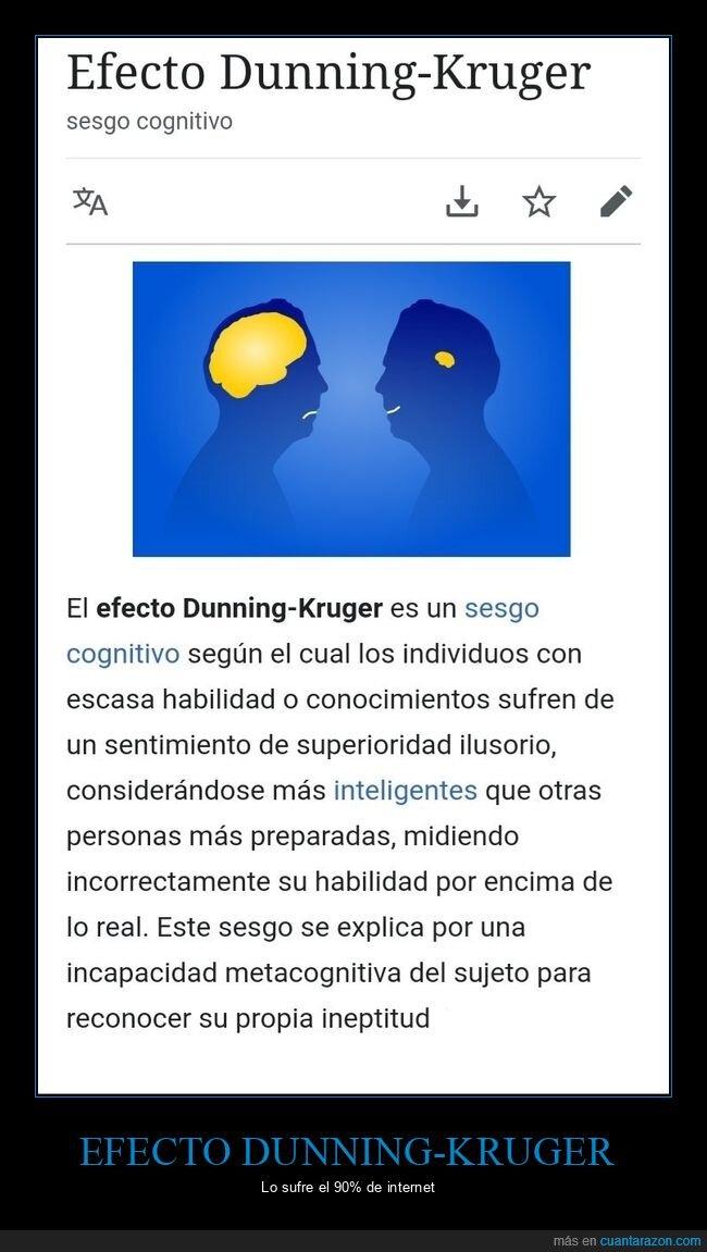 efecto dunning kruger,ilusión,ineptitud,superioridad,tontos