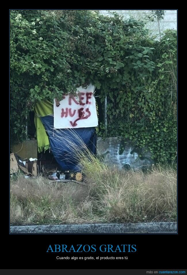 abrazos gratis,cartel,wtf