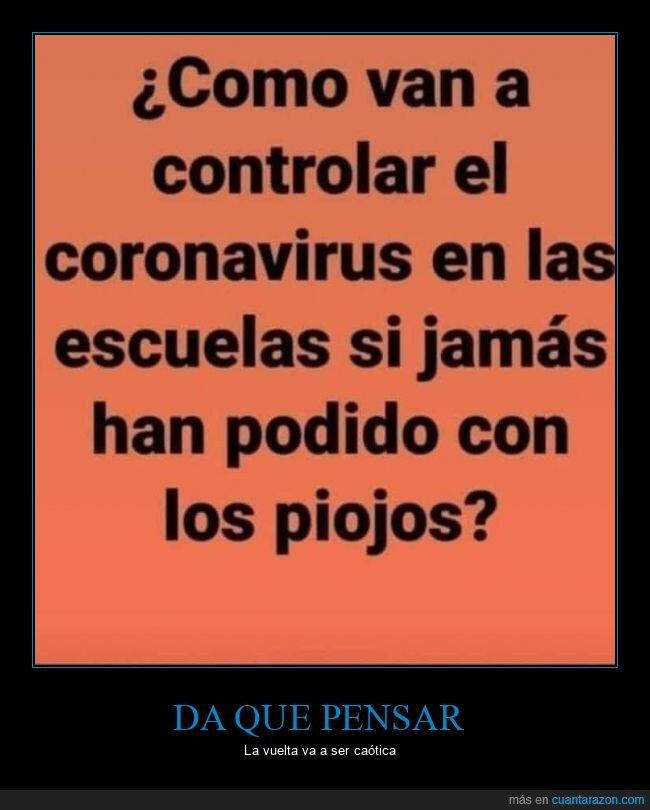 colegios,controlar,coronavirus,piojos